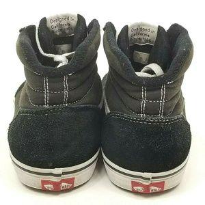 Vans Shoes - Vans Off The Wall Sk8 Hi Black White Canvas Suede